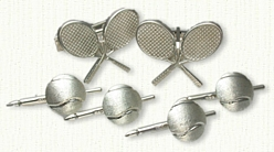 Custom Tennis Racquet Cufflinks & Custom Tennis Ball Studs