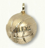 Basketball pendant with Name